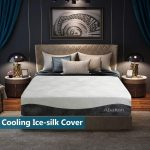 Abakan Queen Mattress 12 Inch Cooling Gel Infused Hybrid Memory Foam Ice Silk Breathable Mattress Cover Pressure Relief Support Responsive Luxury Bed Mattress in a Box