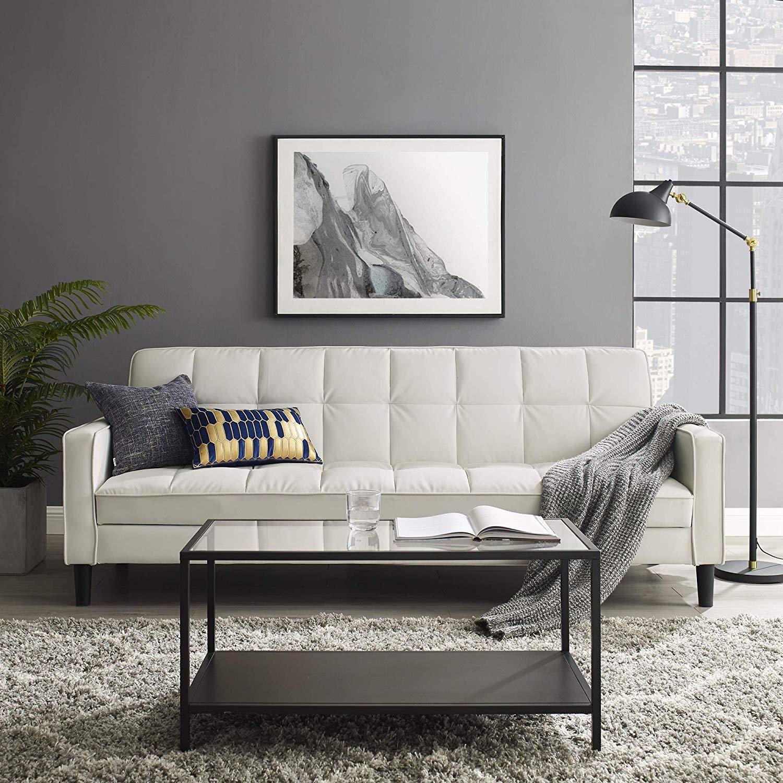 Top 6 Best white leather sleeper sofa in 2020   Bedmattress.co