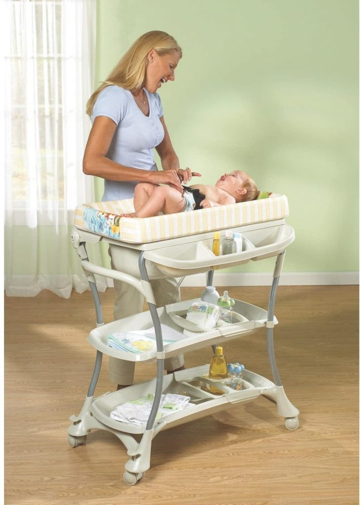 Primo Euro Spa Baby Bath and Changing Table Combo