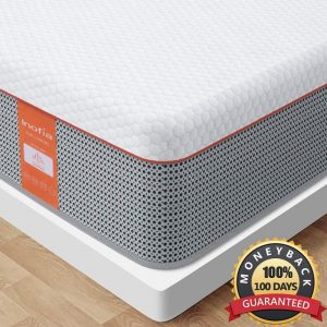 Inofia 10 Inch Gel Memory Foam Hybrid Full Mattress