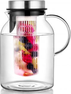 Hiware Glass Fruit Infuser Water Pitcher