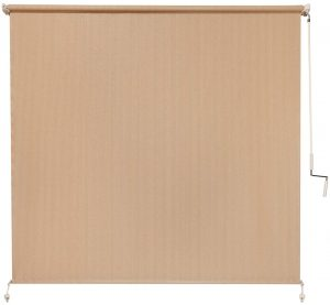 Coolaroo Exterior Roller Shade, Cordless Roller Shade with 80% UV Protection