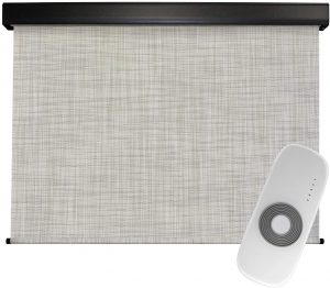 Keystone Fabrics Premium Outdoor Sun Shade, Motorized-Remote, 8-Feet by 8-Feet, Caribbean
