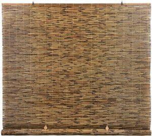 RADIANCE Cord Free, Roll-up Reed Shade, Natural