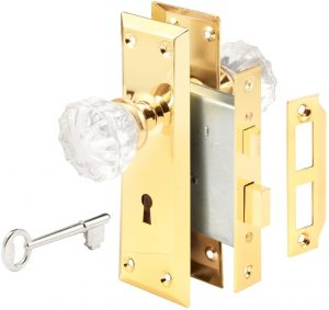 Defender Security E 2311 Mortise Lockset With Glass Knob