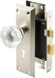 Defender Security E 2496 Mortise Lockset With Glass Knob