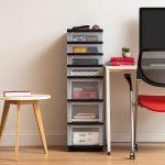 IRIS-USA-MC-343-TOP-7-Drawer-Storage-Cart-with-Organizer-Top-Black