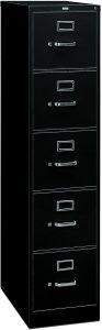 HON 5-Drawer Full-Suspension Letter File Cabinet