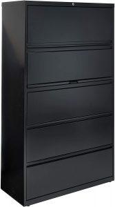 Lorell 5-Drawer Lateral File Locking Cabinet