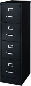 Office Dimensions Commercial 4 Drawer Letter Width Vertical File Cabinet