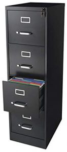 Pemberly Row Deep Commerical Grade 4 Drawer Letter File Cabinet