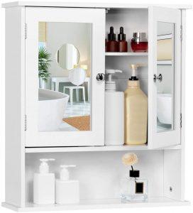 YAHEETECH Bathroom Medicine Cabinet Wall Mount Mirror