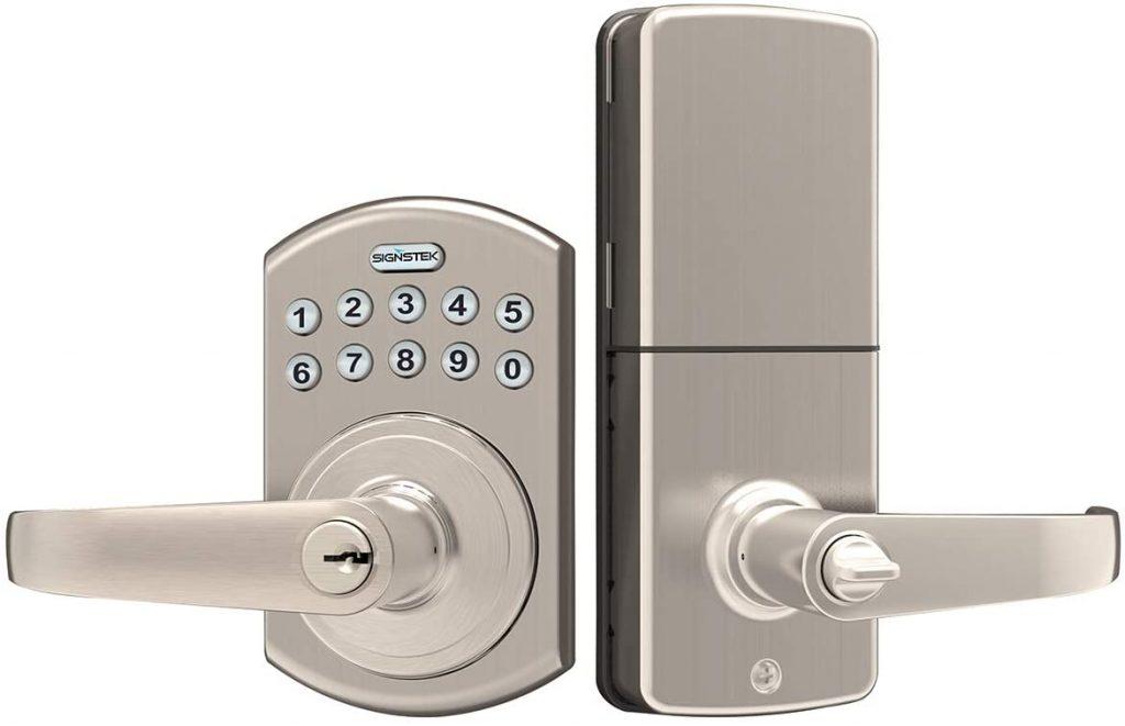 Lock set with backlit keypad