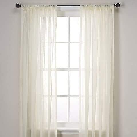 Linen 2 Piece Sheer off white curtain panel set