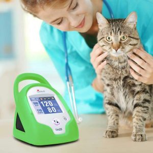 SunTech Vet25 Veterinary Continuous Interval Blood Pressure Monitor with Tree Frog Green Armour
