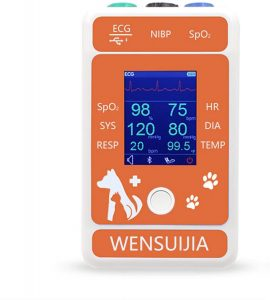 WENSUIJIA Veterinary Monitor for Pet, Monitoring 6 Parameter for Animal (Include Dogs and Cats) as Clinical Equipment