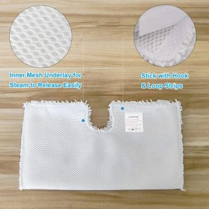 Fushing 3Pcs Steam Mop Pads, Washable Microfiber Cleaning Steamer Replacement Pads for Shark Steam Mop S3501 S3601 S2902 S3901 S3550 S3601D S3801 S3801CO SE450 S2901
