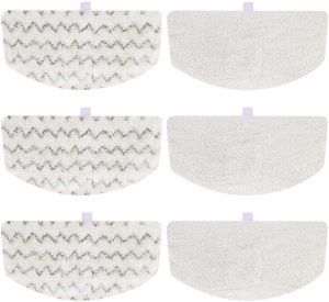 iSingo 6 Pack Bissell Steam Mop Pads Compatible with Bissell PowerFresh 1806 1940 1544 1440 2075A 2685A Series, Replacement Part Model #5938#203-2633
