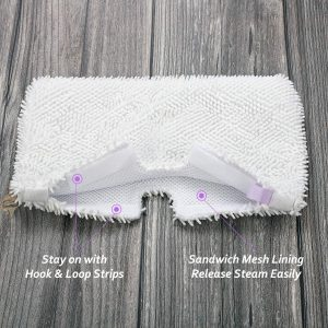 F Flammi 4 Pack Replacement Washable Microfiber Mop Pads Cleaning Pads for Shark Steam Pocket Mops S3500 Series S3501 S3601 S3550 S3901 S3801 SE450 S3801CO S3601D