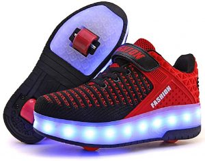 Ufatansy Roller Shoes USB Rechargeable Roller Skate Shoes